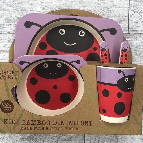 Ladybird Bamboo Children's Dinner Set