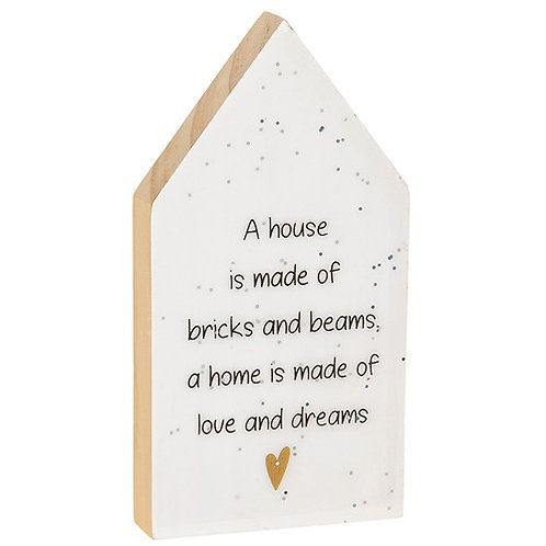 Glitter Words House Plaque - House