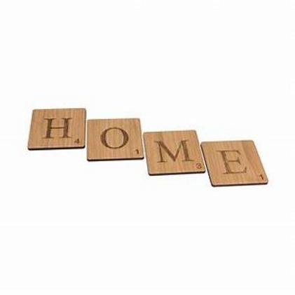 HOME Scrabble Coaster Set