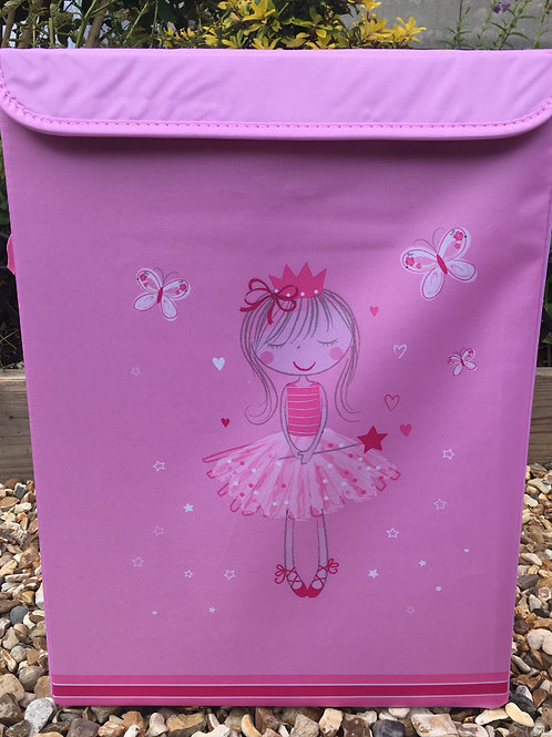 Girls Miss Angelic Storage Box with Handles and Lid Large