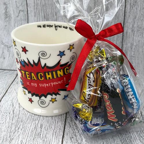 Superhero Teacher Gift Mug Set