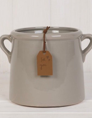 Medium Grey Ceramic Planter