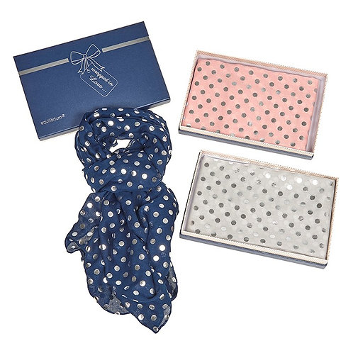 Metallic Spotted Boxed Equilibrium Scarf