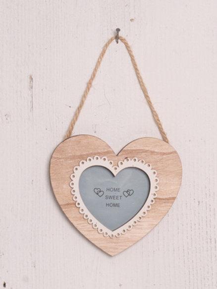 Hanging Wooden Heart Frame