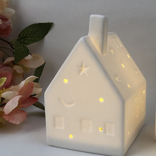 LED Large Ceramic House