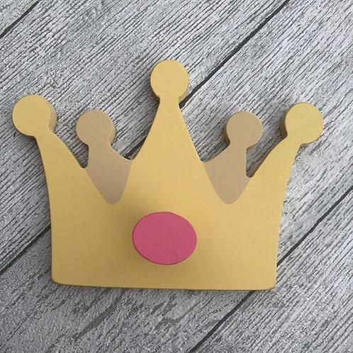 Wooden Princess Wall Hook Crown