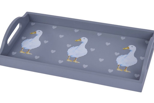 Grey Heart and Duck Tray
