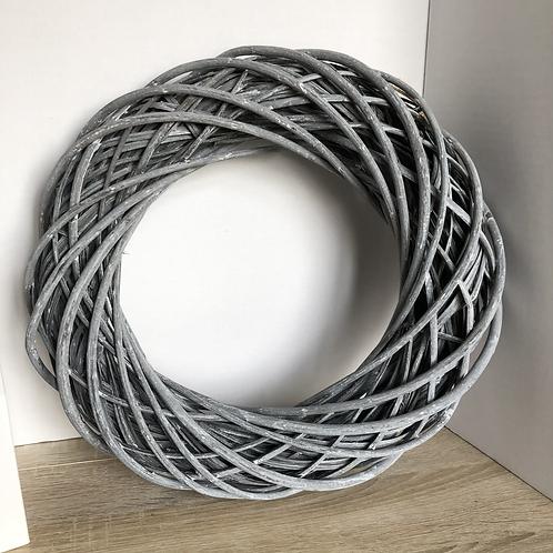 Large Grey Wash Rattan Wreath