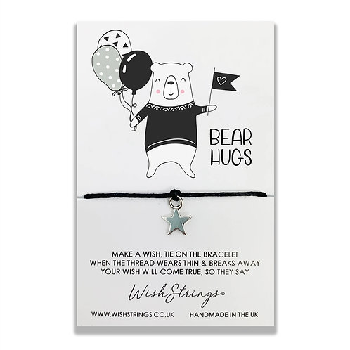 Wishstrings Bear Hugs Bracelet & Free Birthday Card