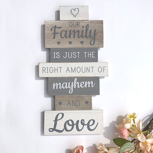 Our Family Tiered Quote Plaque
