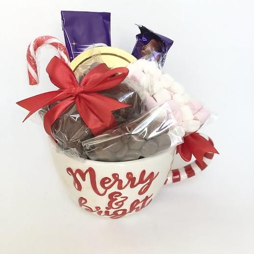 Hot Chocolate Merry & Bright Mug gift set
