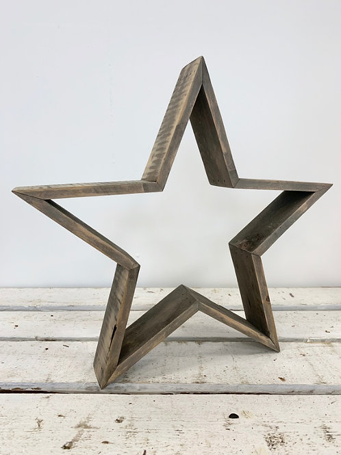 Large Wooden Cut Out 3D Rustic Star