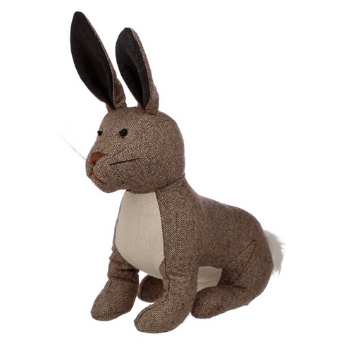 Herringbone Brown Pattern Bunny Doorstop