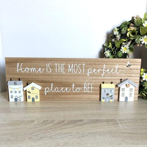 Wooden 3D Home Bee Plaque