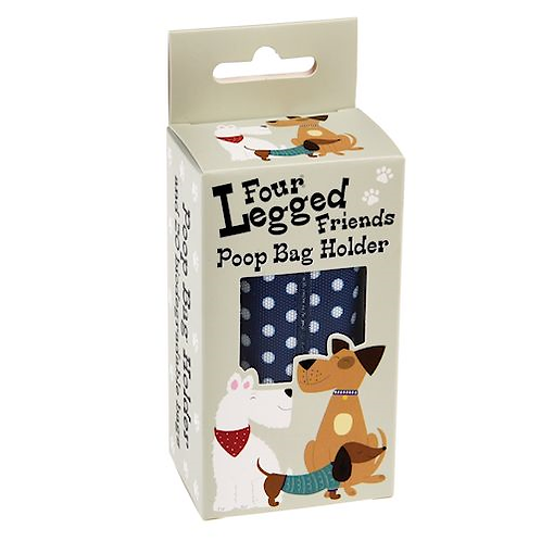 Blue Polka Dot Poop Bag