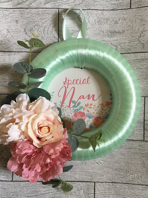 Special Nan Hanging Floral Wreath Decoration