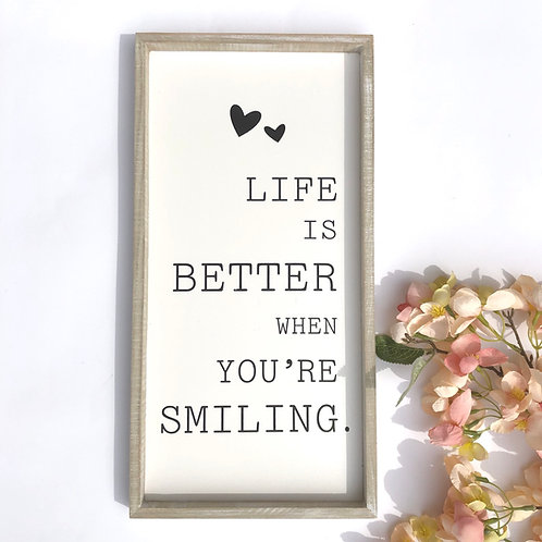 Life is Better Frames Plaque