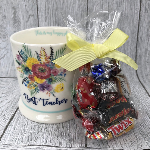 Floral Best Teacher Gift Mug Set