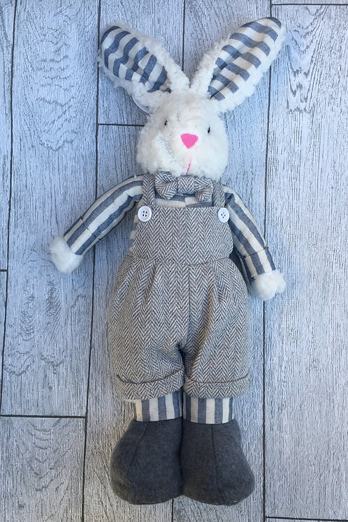 Plush Free Standing Boy Bunny Easter Decoration