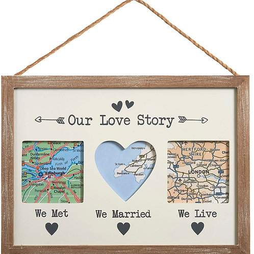 'Our Love Story' Wooden Picture Frame