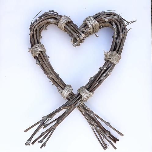 Rustic Willow Heart Wreath