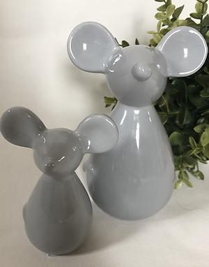 Medium Grey Ceramic Mouse