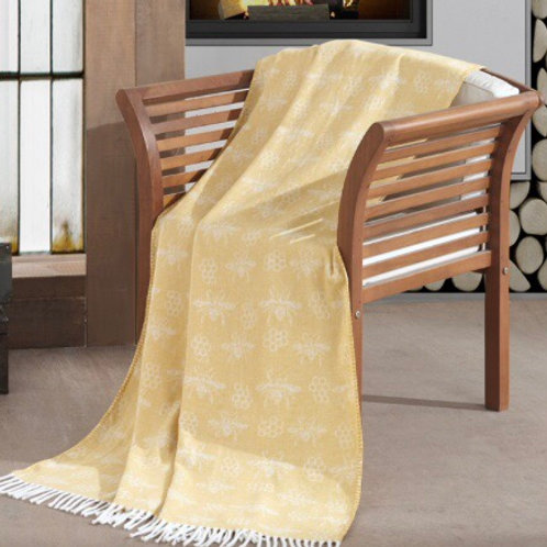 Busy Bee Soft Yellow Throw