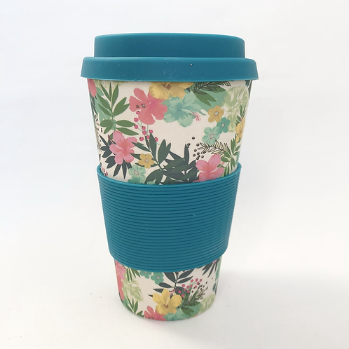 Floral Bamboo Travel Mug