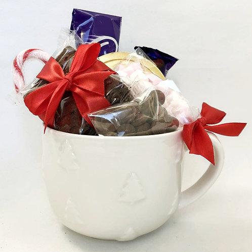 Hot Chocolate Lovers Cosy Socks and Mug gift set - Christmas Tree Design