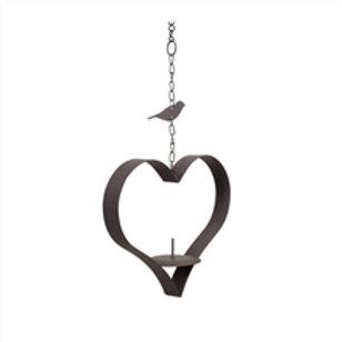 Cast Iron Heart Shaped Hanging Bird Feeder
