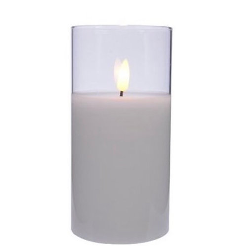 Large LED Flame Candle