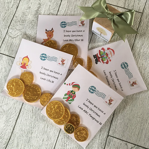 12 x Chocolate Coin Cards