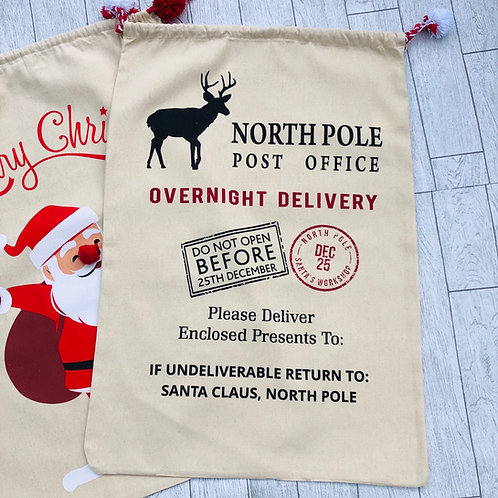 North Pole Special Delivery Large Stocking