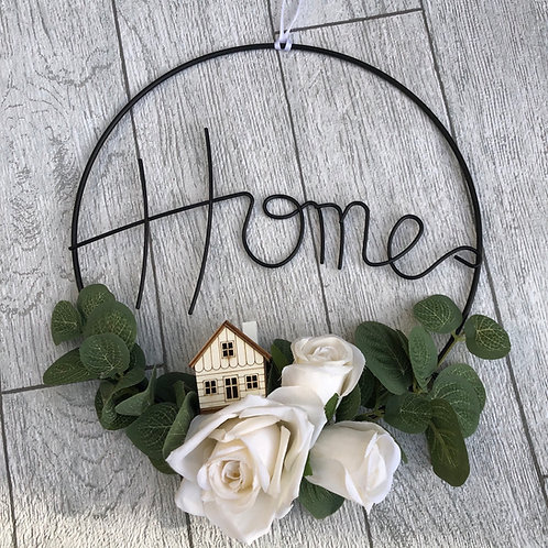 Black Wire 'HOME' Sign