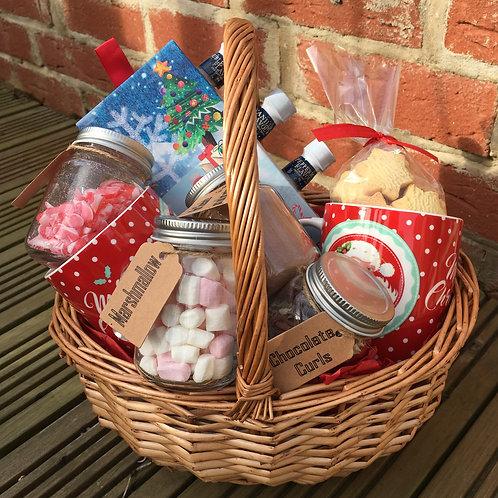 Hot Chocolate Mini Jars Gift Basket