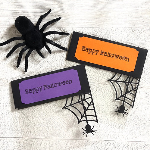 Fill Your Own Halloween Spider Cellophane Treat Bags X 12