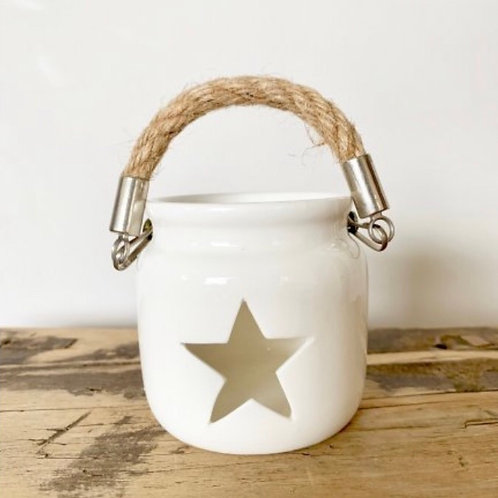 Small White Star Lantern
