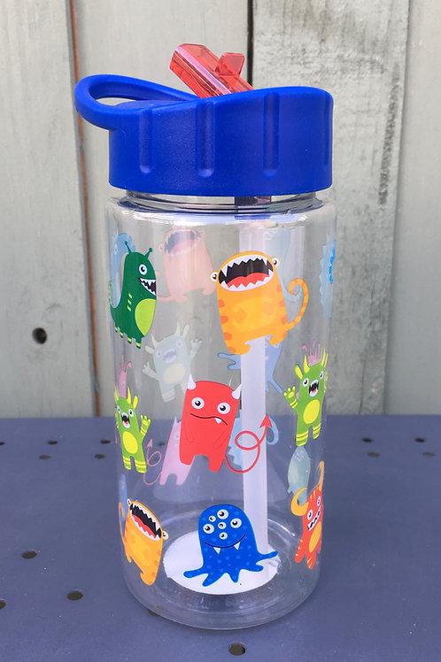 Alien Water Bottle With Straw