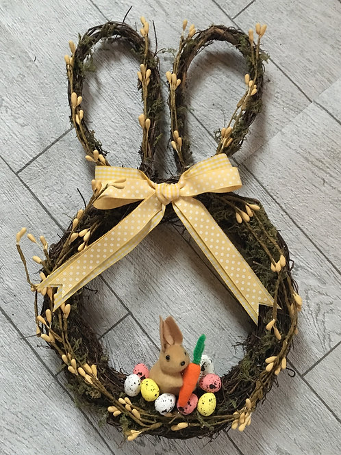 Easter Bunny Shaped Wreath