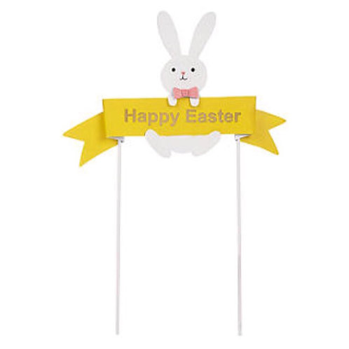Happy Easter Metal Cake Bunting decoration
