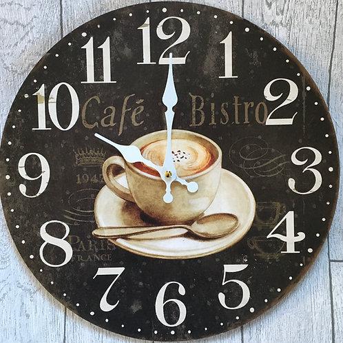 Cafe Bistro Vintage Wall Clock
