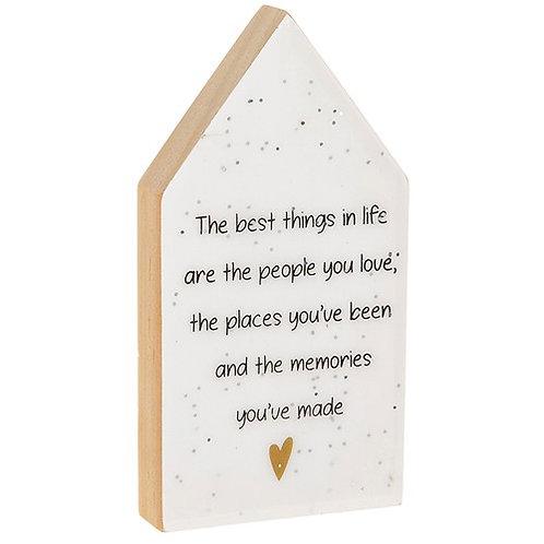 Glitter Words House Plaque - Memories