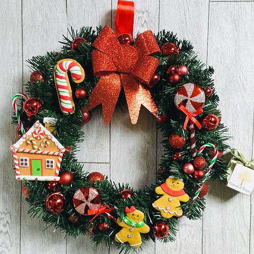 Gingerbread Bespoke Christmas Wreath