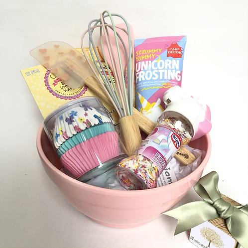 Pink Unicorn Baking Gift Hamper