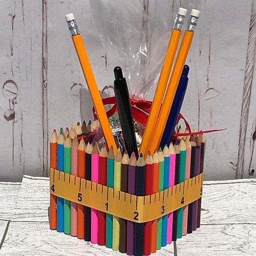 Teachers End of Term Pencil Crayon Pen Pot Gift