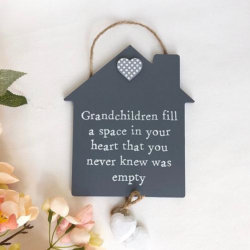 Hanging Grandchild Plaque