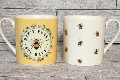 Bee & Bee Happy Gift Mug Set
