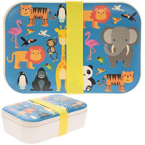 Zoo Theme Bamboo Eco Lunch Box