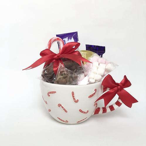 Hot Chocolate Candy Cane  Mug gift set