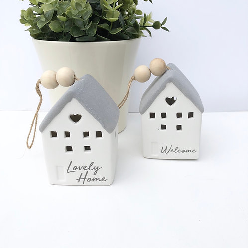 LED Ceramic House in 2 Designs